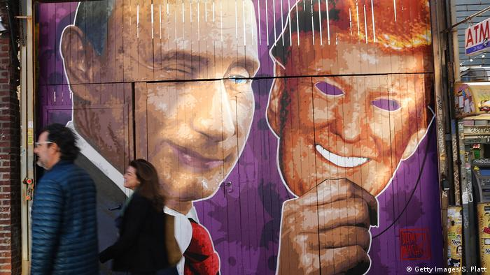USA Mural Putin Trump in Brooklyn (Getty Images/S. Platt)