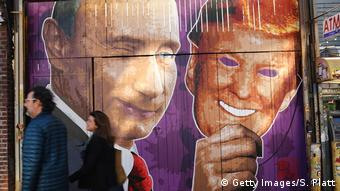 A mural in Brooklyn, New York, showing Vladimir Putin and Donald Trump (Getty Images/S. Platt)