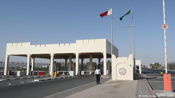 صورة من الجانب القطري لمنفذ أبوسمرة الحدودي مع السعودية