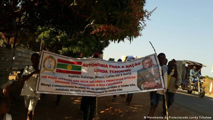 Protesto pela autonomia da Lunda Tchokwe em junho de 2017