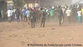 Angola | gewaltsamer Polizeieinsatz während einer Demonstration des Lunda Tchokwe Protectorate Movement (Movimento do Protectorado Lunda Tchokwe )