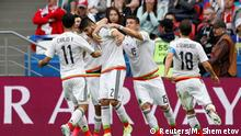 24.06.2017+++ Soccer Football - Mexico v Russia - FIFA Confederations Cup Russia 2017 - Group A - Kazan Arena, Kazan, Russia - June 24, 2017 Mexico's Nestor Araujo celebrates scoring their first goal REUTERS/Maxim Shemetov
