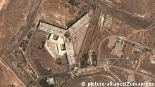 May 15, 2017 - Damascus, Syria - The satellite image shows what U.S. officials say is a prison complex modified to support a crematorium. The Syrian government has constructed a crematorium inside the Sednaya military prison near Damascus to dispose of the bodies of prisoners that it continues to execute inside the facility, the State Department said Monday |