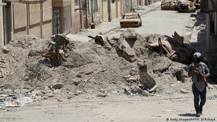 Destruction in Mosul