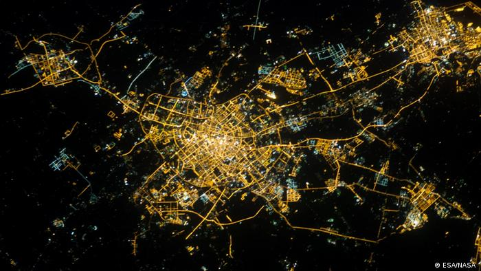 China Satellitenaufnahme der Stadt Tianjin (ESA/NASA )