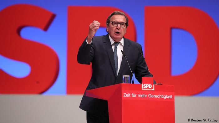 Deutschland SPD Programmparteitag in Dortmund | Gerhard Schröder