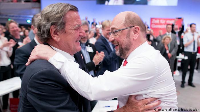 Martin Schulz i Gerhard Schröder