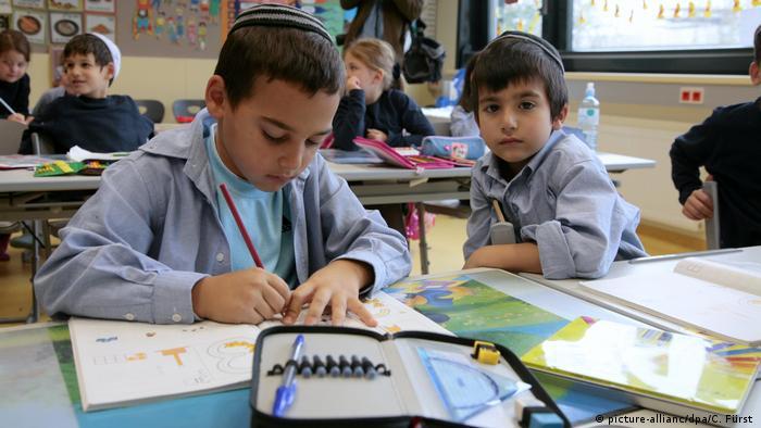 Jewish students in school