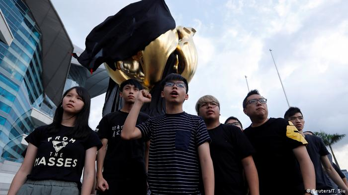 Hong Kong Aktivisten Protest Joshua Wong (Reuters/T. Siu)