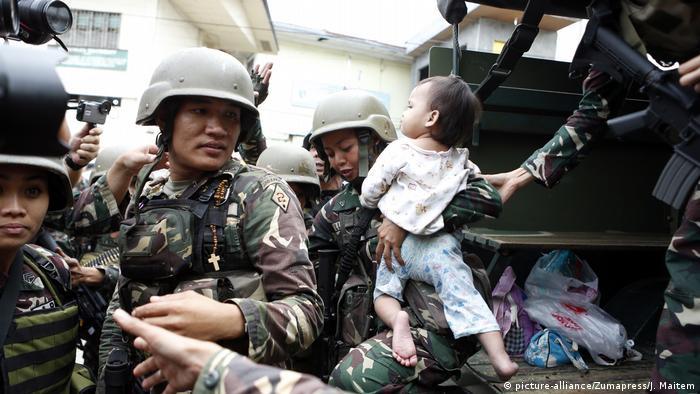 Philippinen Kämpfe in Marawi