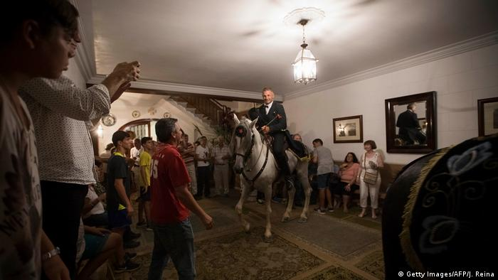 horses in a room(Getty Images/AFP/J. Reina)