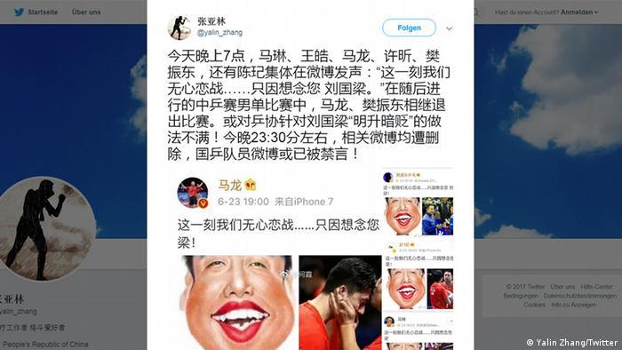 Screenshot Twitter Yalin Zhang (Yalin Zhang/Twitter)