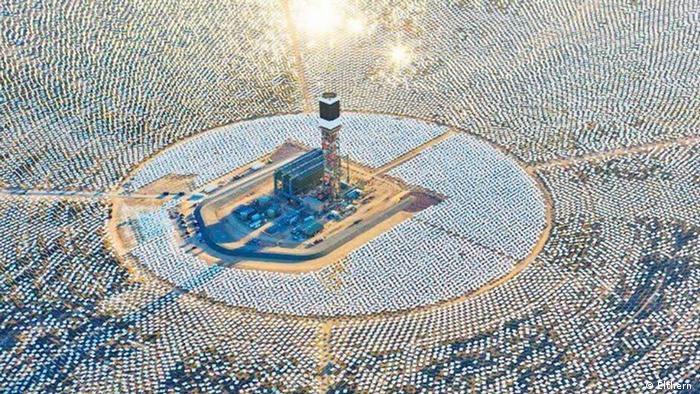 محطة توليد الطاقة الكهربائية بورزازات جنوب المغرب