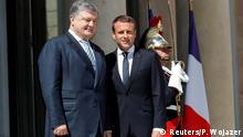 Frankreich Emmanuel Macron & Petro Poroschenko