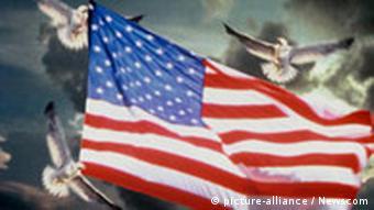 USA Flagge Symbolbild mit Tauben