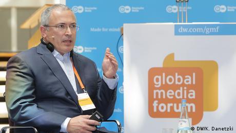 Deutschland Bonn - Deutsche Welle GMF 2017 - Mikhail Khodorkovsky (DW/K. Danetzki)
