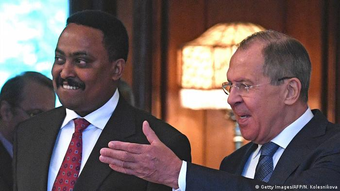 Russland Moskau Außenminister Lawrow und Amtskollege Gebeyehu Äthiopien