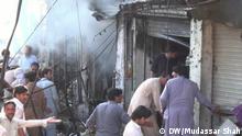 Pakistan Para Chinaar Proteste gegen Bomben-Terror