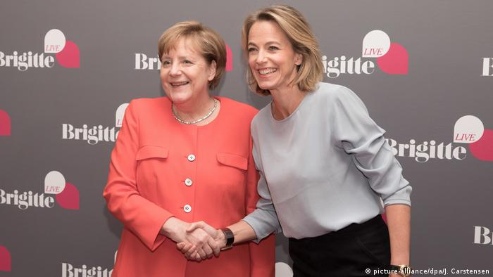 The interview showed more of Merkel's private side instead of dwelling on her political agenda