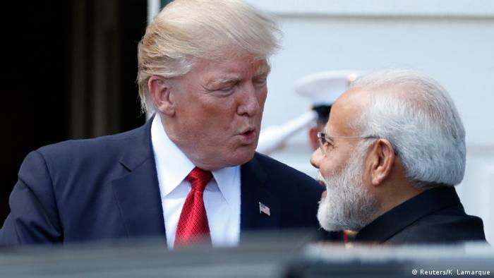 2017: US President Donald Trump and Indian Prime Minister Narendra Modi in Washington