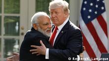 USA Trump und Modi im Weißen Haus