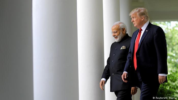 USA Trump und Modi im Weißen Haus (Reuters/C. Barria)