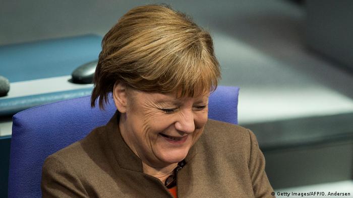 Angela Merkel lacht