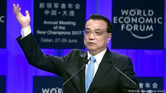 China, Chinas Premier Li Keqiang wirbt für Globalisierung und Freihandel (picture-alliance/dpa/J. Nukari)