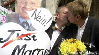 Gay wedding (Reuters/T. Schwarz)