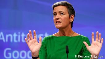 EU Kommissarin Vestager zur Google Strafe (Reuters/F. Lenoir)