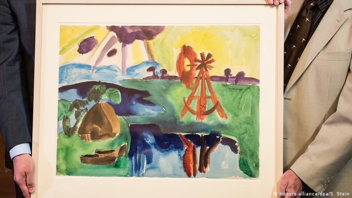 Karl Schmidt-Rottluff painting The Windmill