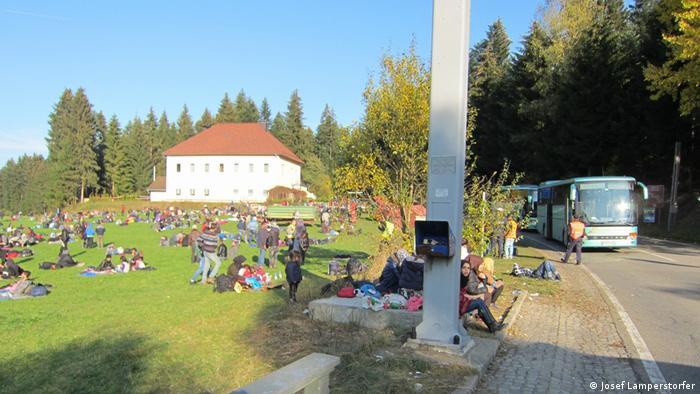 Deutschland Wegscheid Grenzübergang zu Österreich (Josef Lamperstorfer)
