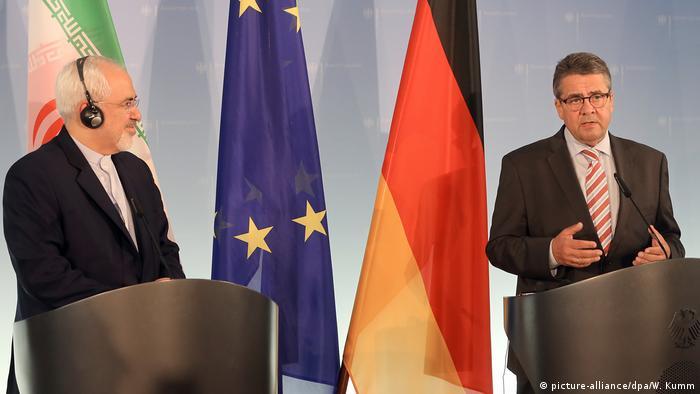 Berlin Außenminister Iran Mohammed Dschawad Sarif & Sigmar Gabriel