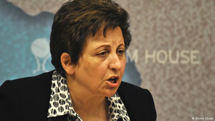 Shirin Ebadi, Friedensnobelpreisträgerin im Iran nicht gefeiert (Shirin Ebadi)