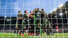 Germany players celebrate after beating England in a penalty shootout (Picture alliance/ GES/T. Eisenhuth)