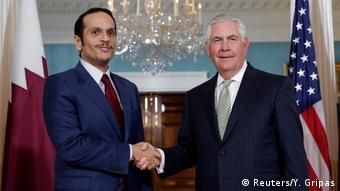 USA Außenminister Tillerson trifft Amtskollegen Sheikh Mohammed bin Abdulrahman Al Thani aus Katar