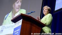 27.6.2017*** Bundeskanzlerin Angela Merkel (CDU) spricht am 27.06.2017 beim Wirtschaftstag des Wirtschaftsrates der CDU in Berlin zu den Teilnehmern. Foto: Rainer Jensen/dpa +++(c) dpa - Bildfunk+++ | Verwendung weltweit