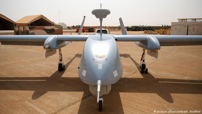 Heron TP am Luftwaffenstützpunkt in Mali