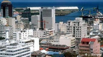 View of Port Louis, Mauritius