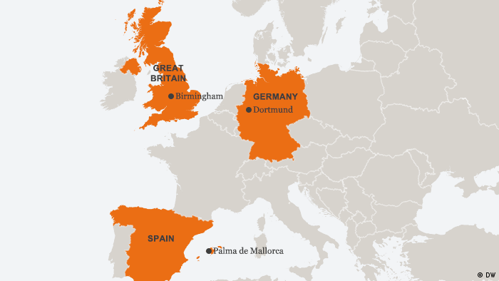 Map Of Germany To Spain.Anti Terror Raids In Spain Germany And The Uk News Dw 28 06 2017