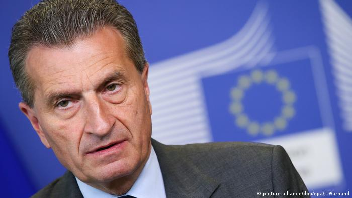 EU-Kommissar Günther Oettinger (picture alliance/dpa/epa/J. Warnand)