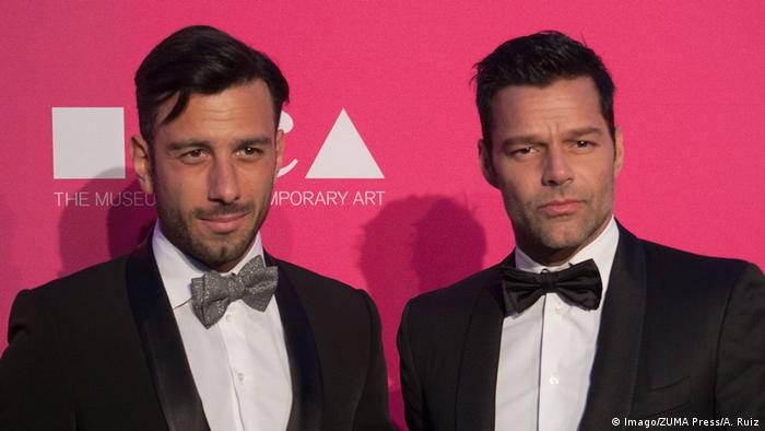 Los Angeles California U S Jwan Yosef and Ricky Martin at the 2017 MOCA Gala at (Imago/ZUMA Press/A. Ruiz)