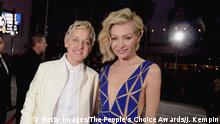 Ellen deGeneres und Portia de Rossi (Getty Images/The People's Choice Awards/J. Kempin)