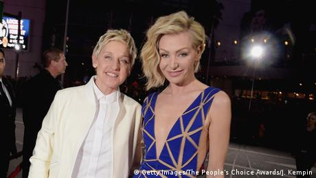 Ellen deGeneres and Portia de Rossi (Getty Images/The People's Choice Awards/J. Kempin)