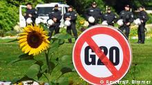 Hamburg G20 Protestcamp im Stadtpark