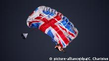 London Fallschirm als Union Jack