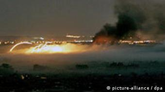 Fire and smoke over Gaza City