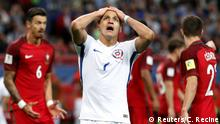 Soccer Football - Portugal v Chile - FIFA Confederations Cup Russia 2017 - Semi Final - Kazan Arena, Kazan, Russia - June 28, 2017 Chile's Alexis Sanchez reacts after a missed chance REUTERS/Carl Recine
