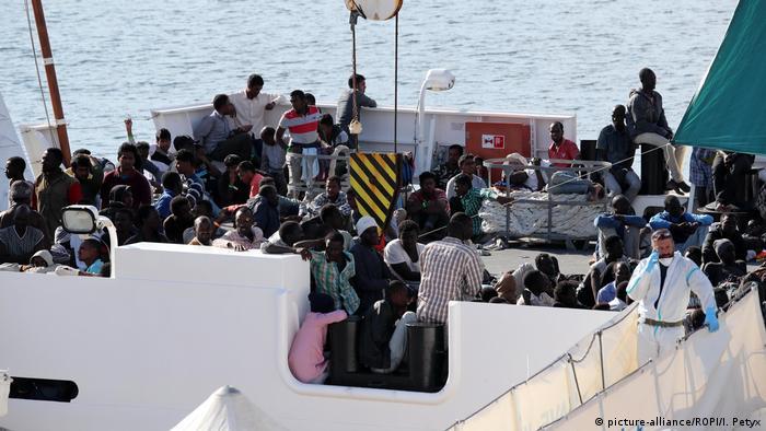 Italien Rettungseinsätze im Mittelmeer