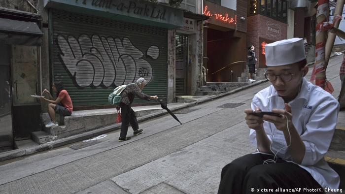 China Straße in Hongkong (picture alliance/AP Photo/K. Cheung)